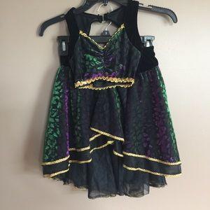 Algy dance costume black/gold tube top &skirt